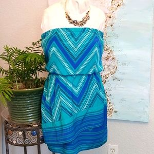 Express turquoise dress